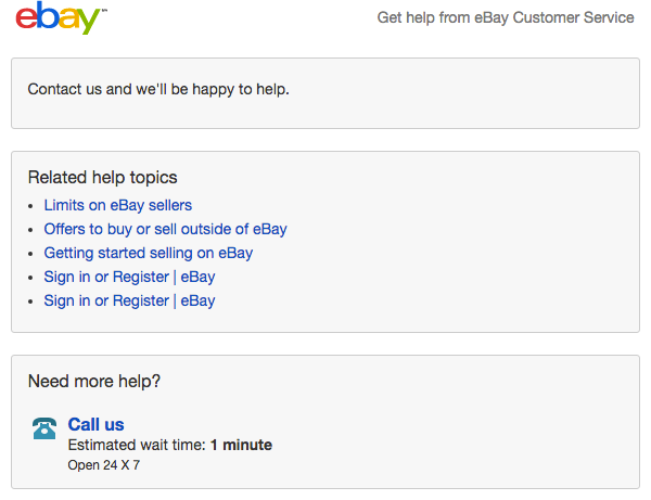Get help from eBay Customer Service